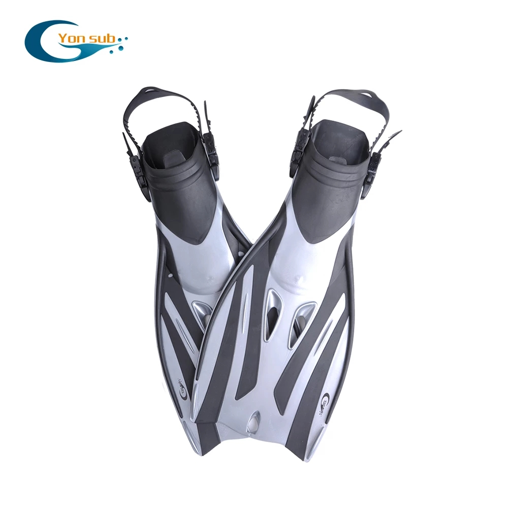 Open Heel Swimming Flipper TRP Non-slip Adjustable Diving Fins