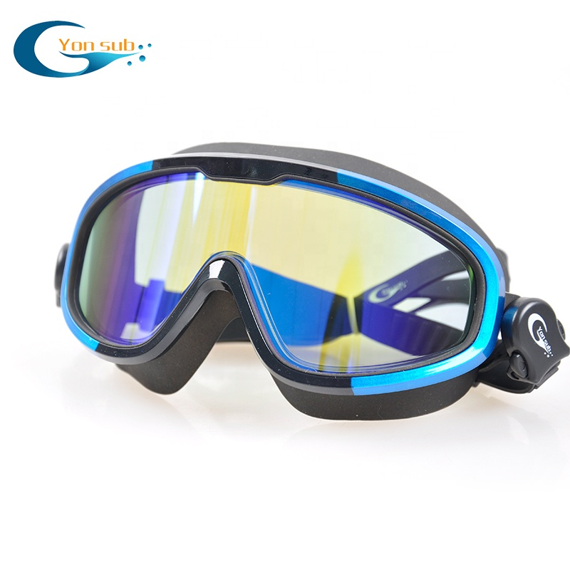 UV protection colorful anti fog silicone swimming goggles