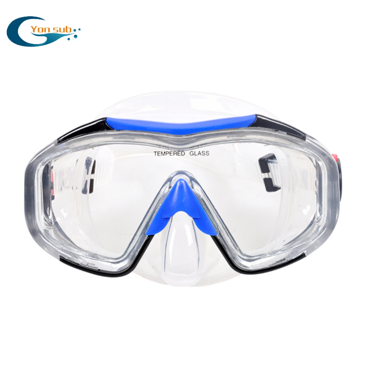 High quality 4 mm tempered glass silicone scuba diving mask for sale