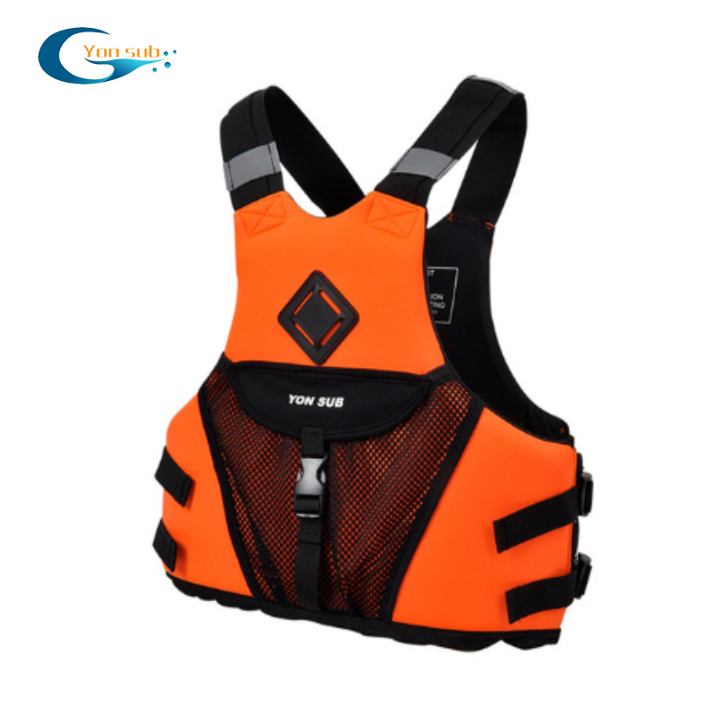 Adjustable neoprene life saving jacket for water sports