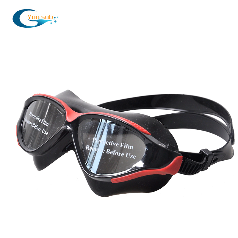 PC lens mirrored coating swimming goggles sports glasses